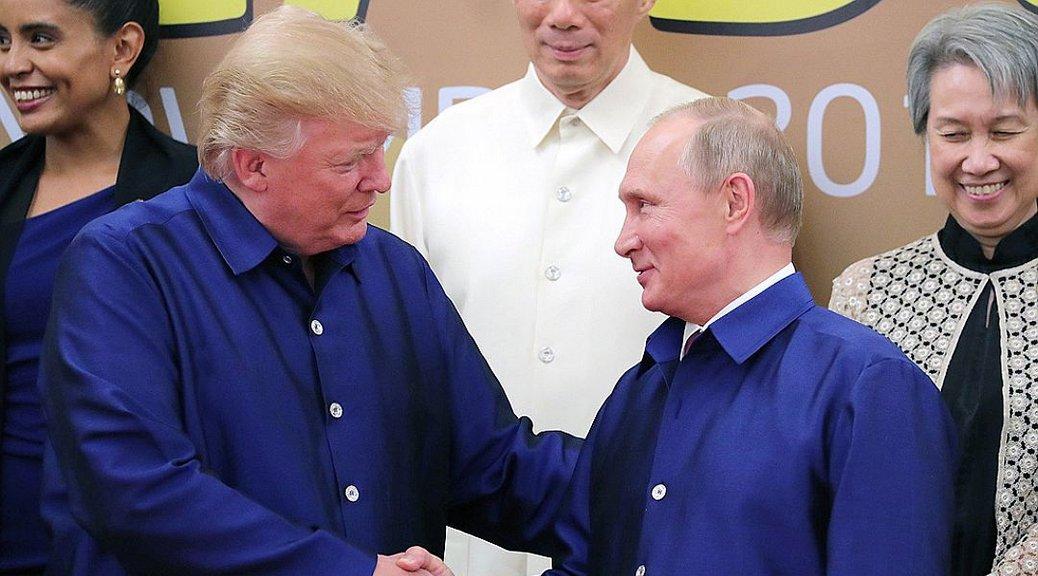 Трамп только пожал руку Путину,